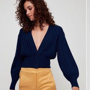 Aritzia Thais NAVY sweater SMALL